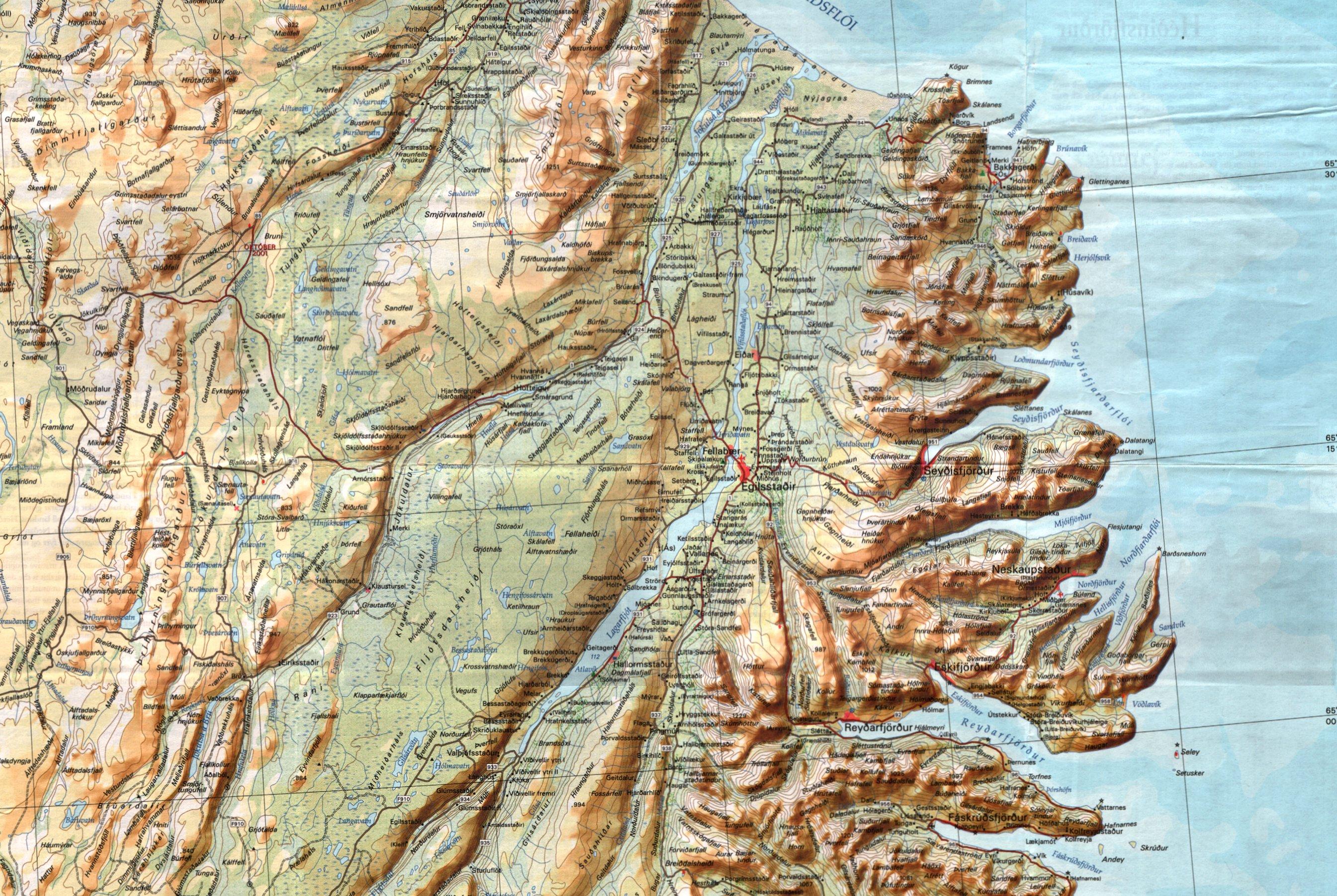Topographie islande